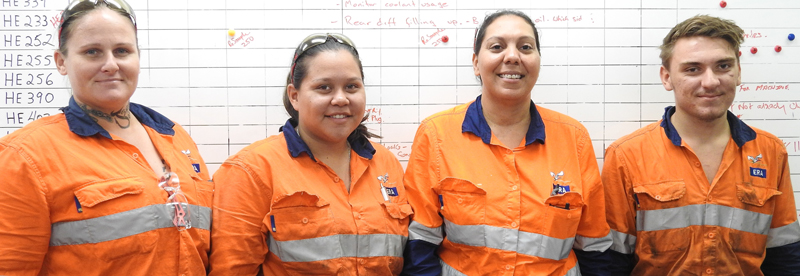 ERA's new apprentices, Jodie Stansfield, Jaala Alley, Marie Rowell and Brock Hope